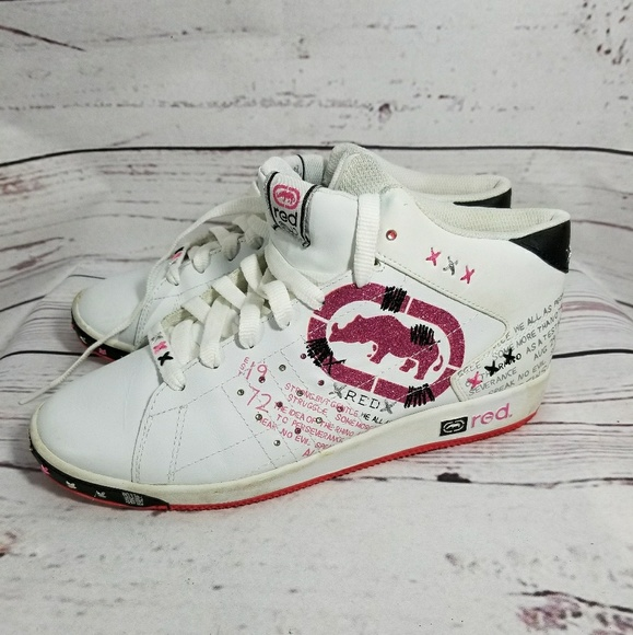 Ecko RED Pink High Top Sneakers Size 10